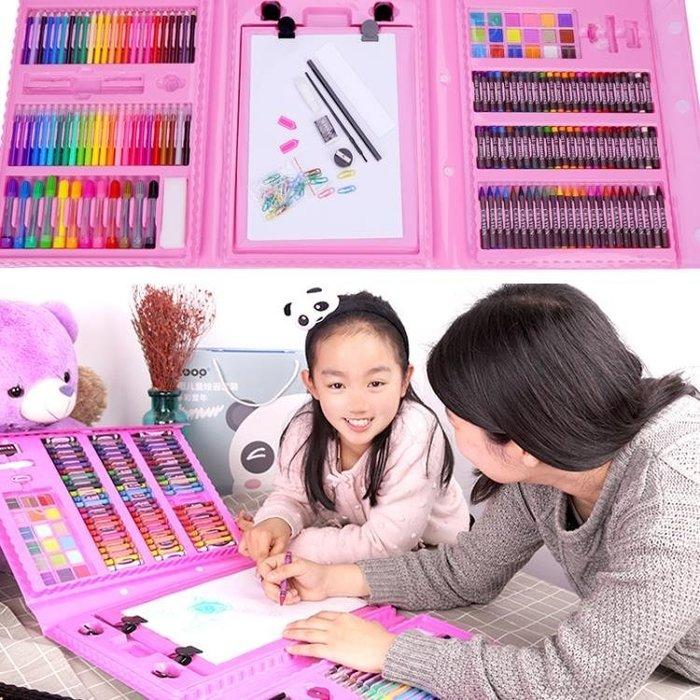 177件套 彩筆禮盒水彩筆無毒可水洗兒童畫筆繪畫蠟筆油畫棒