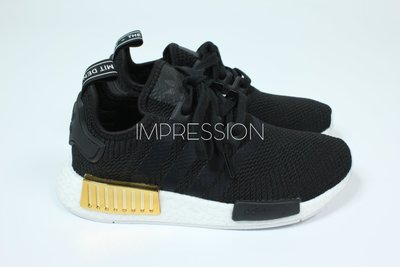 【IMPRESSION】Adidas Originals NMD R1 BOOST 愛迪達 黑金 黑色 EG6702