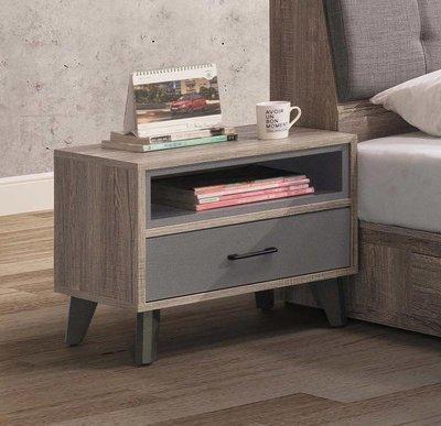 【風禾家具】FSY-9-7@工業風床頭櫃【台中3600送到家】床邊櫃 置物櫃 收納櫃 北歐風 低甲醛木心板 台灣製傢俱