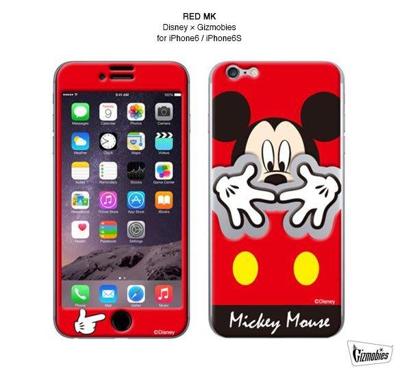 GOODFORIT / 3C專門廠牌Gizmobies iPhone 6/6S RED MK迪士尼米奇聯名保護貼