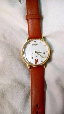 KS 星座錶 天蠍座 皮錶帶