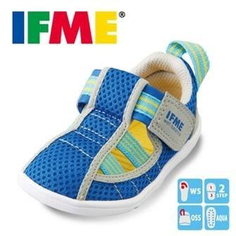 【小糖雜貨舖】日本 IFME 健康機能鞋 透氣護趾童涼鞋 寶寶鞋 - 藍色珊瑚礁 12 / 12.5 公分
