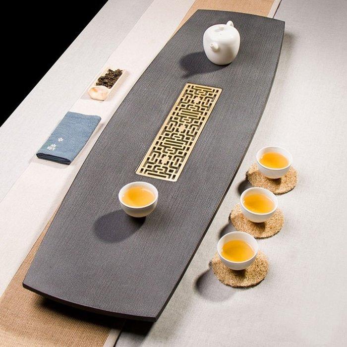 【睿智精品】石茶盤 功夫茶盤 茗茶 泡茶石盤 烏金石茶盤(GA-4415)