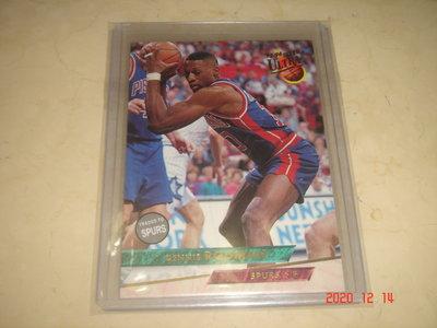 美國職籃 NBA Spurs Dennis Rodman 小蟲 1993-1994 Fleer Ultra  球員卡