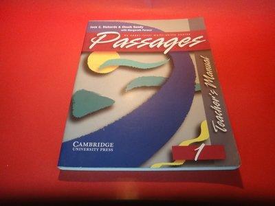 【愛悅二手書坊 23-48】Passages Teacher's Manual 1   (厚本)