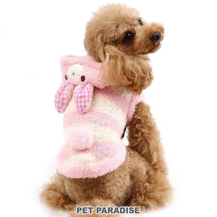 貝果貝果 日本 pet paradise 可愛兔兔羊羔絨保暖連帽衫 [D13422]
