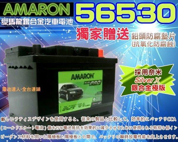 【電池達人】56530 愛馬龍 汽車電池 福特 MONDEO FOCUS KUGA ESCAPE FIESTA AUDI