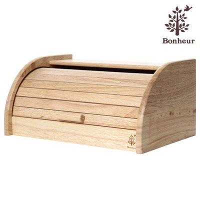 WAN WAN 日本亂亂買。預購區。BONHEUR。橡膠木。覆蓋式。儲物箱。儲物盒。麵包箱。麵包盒