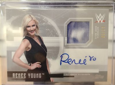 2017 WWE Topps Undisputed Renee Young  Auto patch /50
