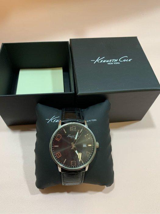 《現貨免運》Kenneth Cole KC8005紳士手錶 黑色附盒 保證卡 近7成新 專櫃貨