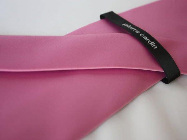 【Pierre Cardin】100%全新正品 素面領帶-粉紅色【寬版8cm】*領帶兩條95折三條9折*NEW P25