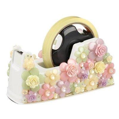 ~~凡爾賽生活精品~~全新日本進口玫瑰花園手工瓷花造型大膠台