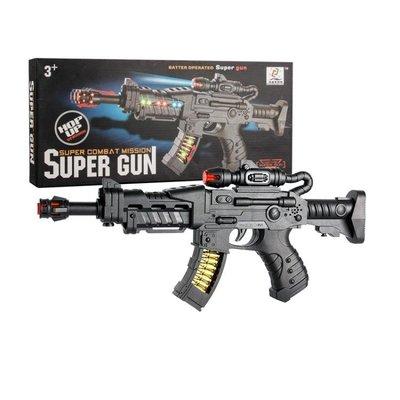 兒童電動音樂玩具槍聲光塑料男孩2-3-4-5歲寶寶小孩電子沖鋒手搶