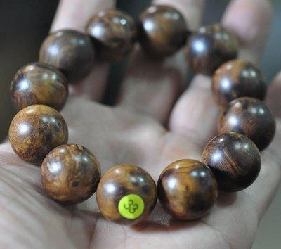宋家苦茶油shawnanall.33號.台灣三峽黑格肖楠木所製20mm12顆手珠.香噴噴.沉水黑格重油.