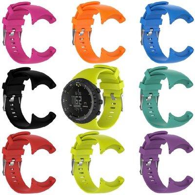 丁丁 頌拓 Suunto CORE ALL BLACK 繽紛炫彩全黑款智能手環矽膠錶帶 環保材質 佩戴柔軟舒適 替換腕帶