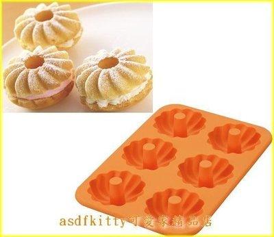 asdfkitty可愛家☆貝印KAI矽膠模型-花型甜甜圈6連-低油-巧克力.蛋糕.手工皂.麵包-日本正版