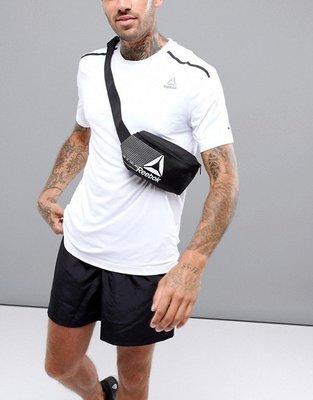 南◇2019 7月 REEBOK 腰包 側背包 隨身小包 Dn1524 黑灰色 黑色 男女 逛街 運動 必備 小腰包