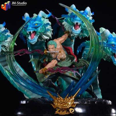 海賊王 GK F3 四龍索隆 三刀流戰斗場景大型巨大手辦雕像模型擺件