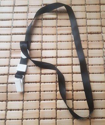 ☆艾力客生活工坊☆DI-036識別帶吊繩 手機吊繩 掛繩 證件套 證件帶 塑膠夾繩(寬1.5cm-對折44cm)平紋深黑