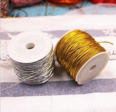 聚吉小屋 #熱賣#包裝包扎金絲線 銀絲線 包裝袋扎口 包裝繩 裝飾品 彈力包裝繩(價格不同 請諮詢後再下標)