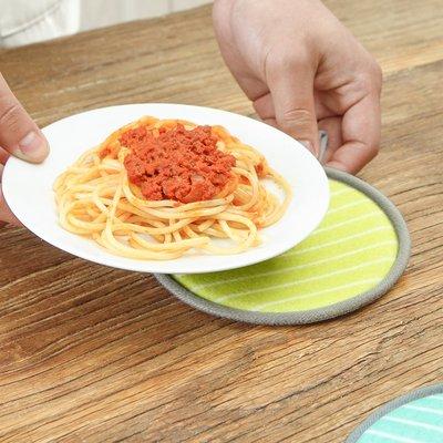 餐桌墊桌墊隔熱墊子加厚海綿北歐布藝墊家用防滑圓形碗墊杯墊餐墊