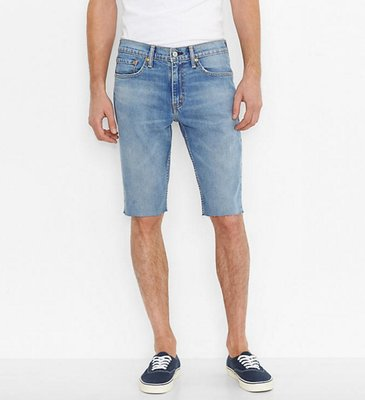 現貨 LEVI'S 511 SLIM FIT CUT-OFF SHORTS 窄版短牛 牛仔短褲 水洗 淺藍 不收邊