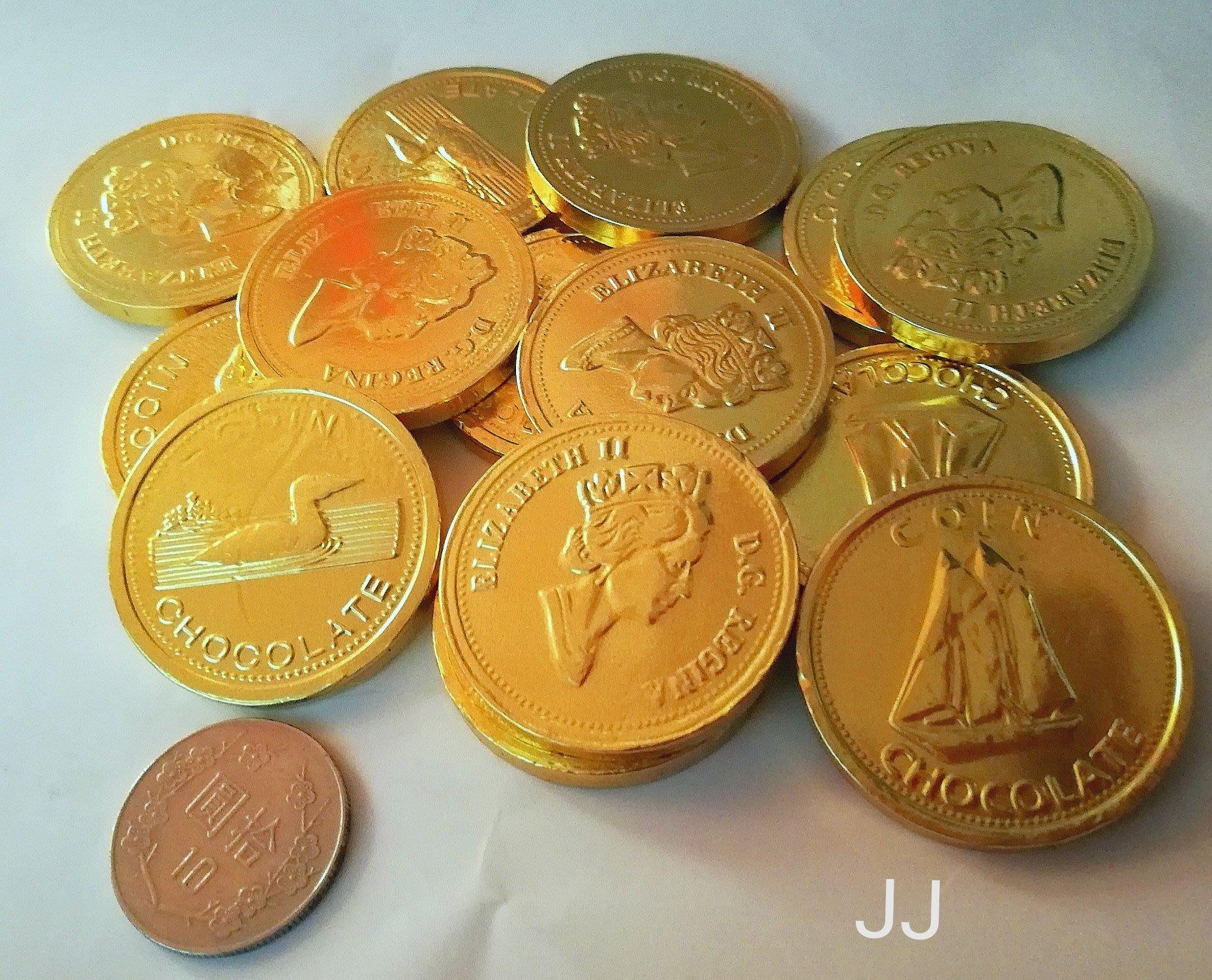 金幣 巧克力-女王金幣巧克力-代可可 聖誕 萬聖 彩券 春節 50片裝-台灣製造-團購糖果批發