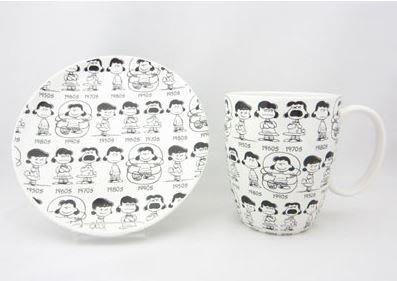 鼎飛臻坊 PEANUTS SNOOPY Department 56 史努比 65週年紀念 露西杯盤組 日本正版