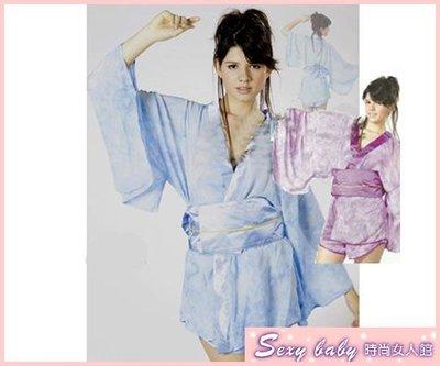Sexybaby  ~現貨出清~ Party girl 新款角色扮演服 紫紅&粉藍雪紡和服 SB20093