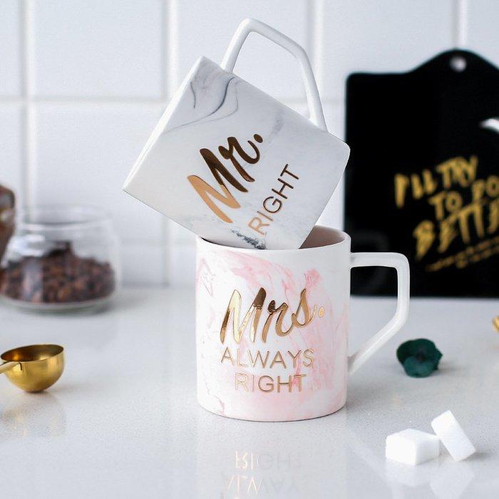 奇奇店-創意陶瓷馬克杯磨砂英文情侶杯茶杯水杯辦公室咖啡杯B-136#簡約 #輕奢 #格調