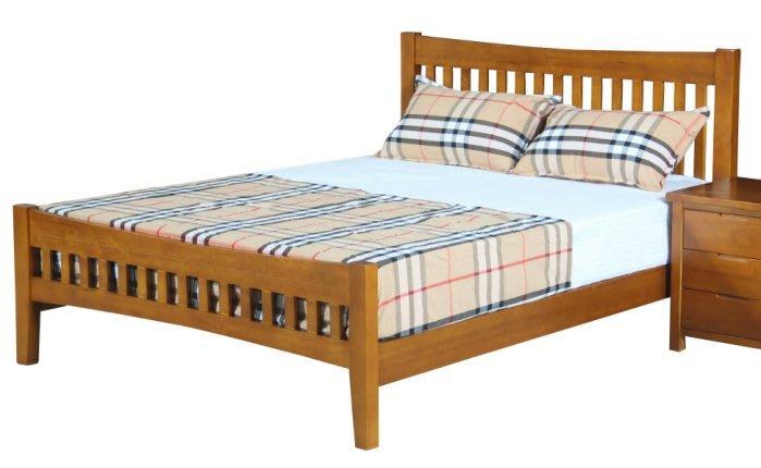 【DH】商品貨號N088-4商品名稱《斯伯》5尺全實木床台(圖一)實木床底.台灣製.備有6尺可選.主要地區免運費