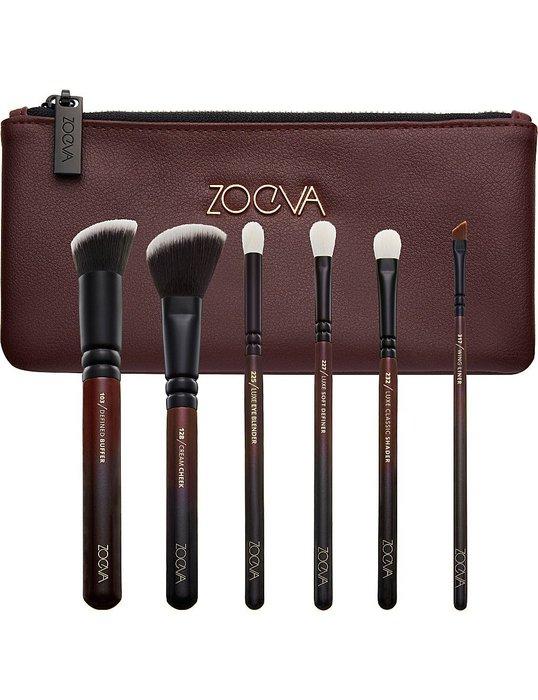 【愛來客 】德國 zoeva Queens Guard Brush Set x6 刷化妝刷具組+刷包