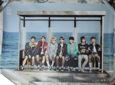 BTS防彈少年團 You Never Walk Alone Left Ver. 【台版宣傳海報】全新!免競標~