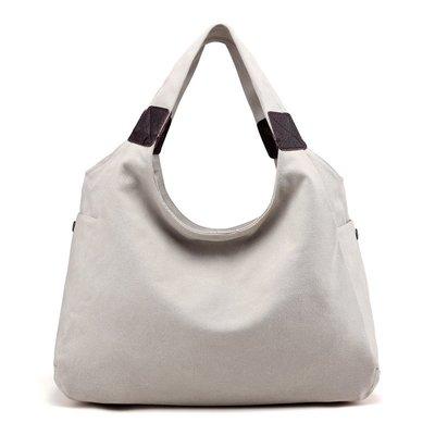 手提包帆布肩背包-簡約休閒隨性大容量女包包12款73wa37[獨家進口][米蘭精品]