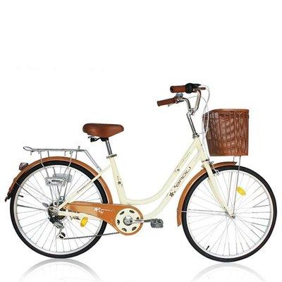 (J.J.Bike) 保利 BAOLI Milk 24吋6段 SHIMANO 變速系統 牛奶車 淑女車 非 KHS MERIDA