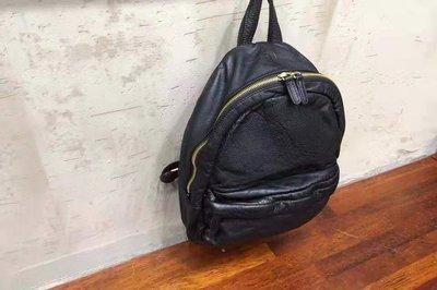 預購 stepone001 正韓 DAAD 簡約水洗牛皮後背包 休閒後背包 兩色 牛皮後背包 黑色真皮背包
