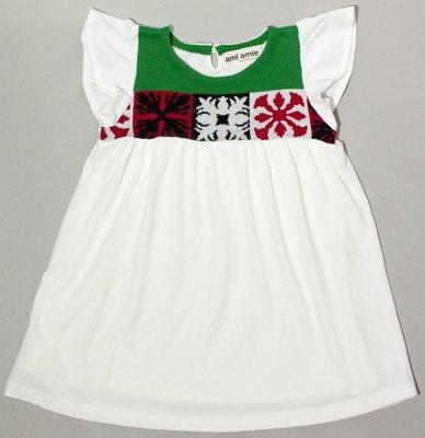 日本童裝品牌 Ami Amie 女童連身裙- 白色- 110cm clearance sale