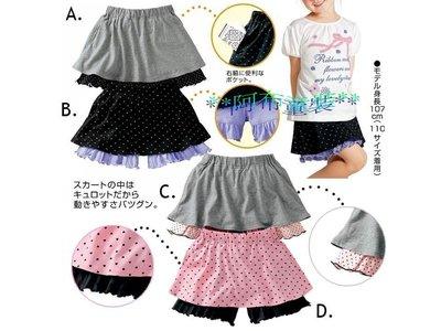 **阿布童裝**【2676】日單女孩中大童實搭四色點點褲裙100/110/120cm