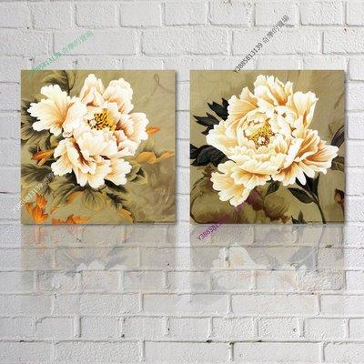 【60*60cm】【厚0.9cm】印象花卉-無框畫裝飾畫版畫客廳簡約家居餐廳臥室牆壁【280101_172】(1套價格)