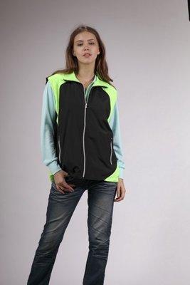 4739-2 黑+螢光綠-網裡背心*男女可穿 M~2L