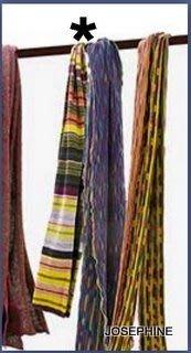 喬瑟芬【CATHERINE ANDRE 】特價$7600~2010 秋冬多彩橫紋雙面拼織圍巾~全新真品!