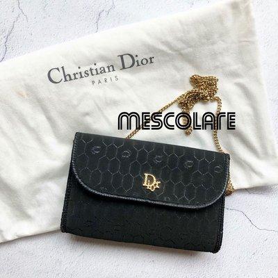 售罄mescolare二手精品正品Dior vintage經典Logo包鏈條包古董包黑系蜂巢圖騰復古包兩用包