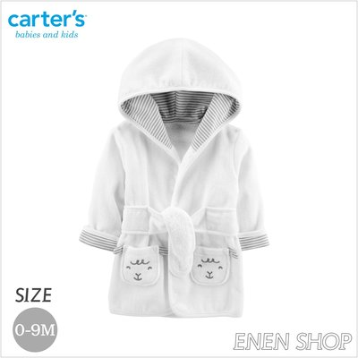 『Enen Shop』@Carters 可愛白綿羊款連帽浴袍/ 浴巾/ 包巾/ 長袍 126H782 0-9M 新生兒/ 彌月禮 新竹縣