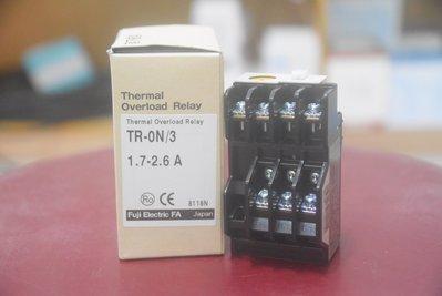 富士 TR-0N/3 三素子、積熱電驛 O.L 、TH-RY 、Overload relay、 Over relay