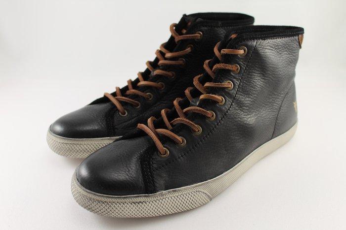 INDiCE ↗ Frye Chambers 男性中筒繫帶皮革休閒鞋 時尚黑