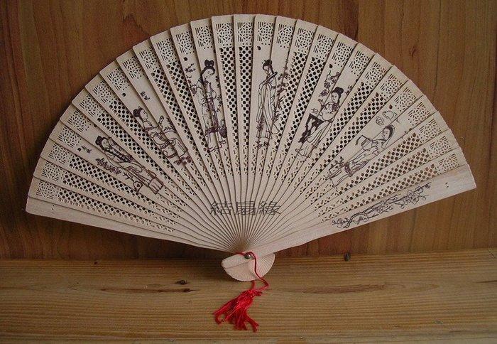 【結扇緣】復古香木扇中國風純木製片扇(9吋)