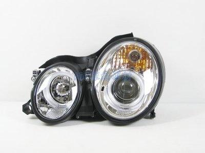 ~~ADT.車燈.車材~~BENZ W208 CLK  CCFL光圈魚眼黑銀底大燈一組9000