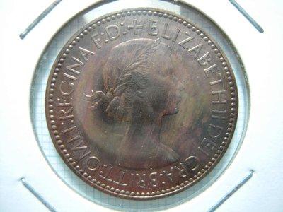 英國.Half Penny.1953年.未使用薄氧化