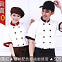 S09BB&S09R專業用廚師服/雙排扣/薄/短袖!!A1