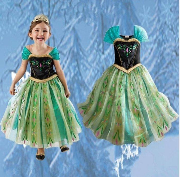 *蜜寶貝🚩萬聖節冰雪奇緣~安娜公主 萬聖節造型服飾~中小女童-尺寸100-140cm-0019